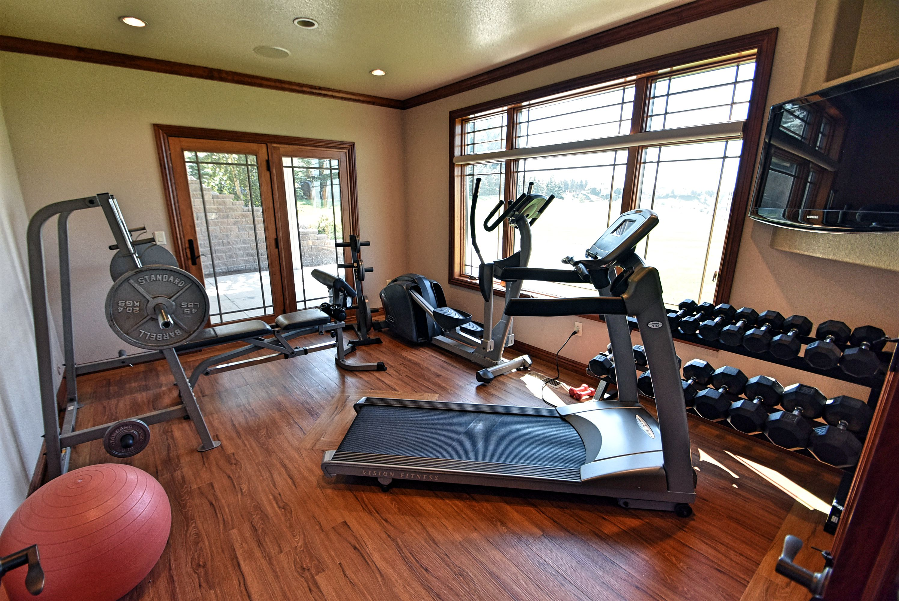 Basement workout room or possible 5th bedroom.