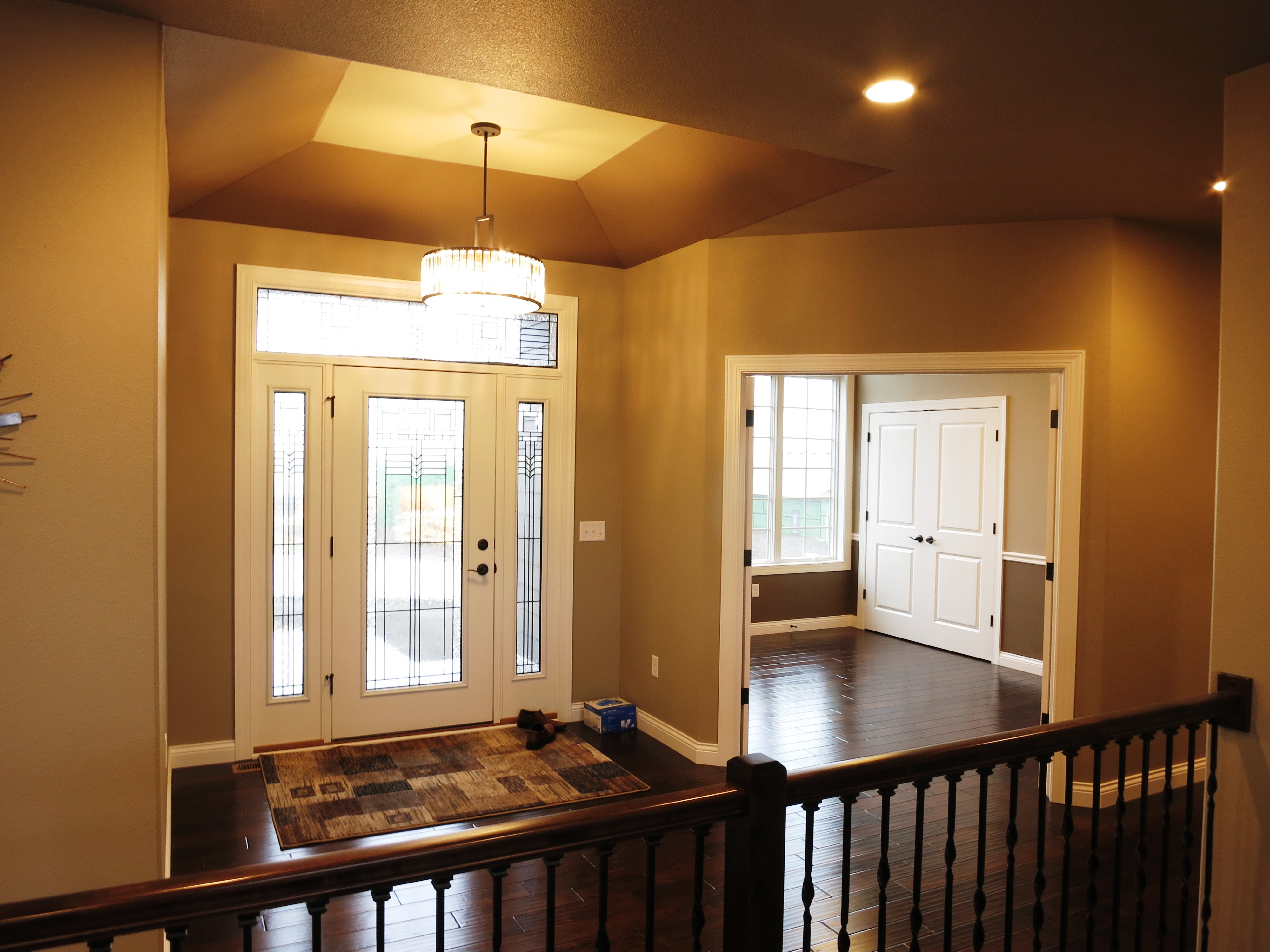 The following pictures are of a home with a similar floor plan.